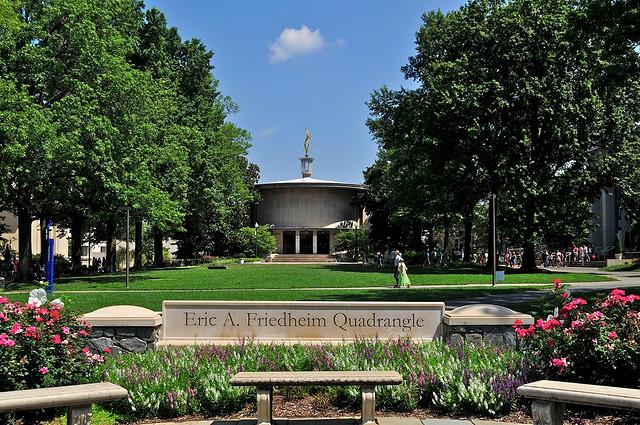 American University's quad